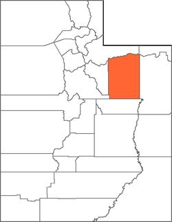 Duchesne County Map