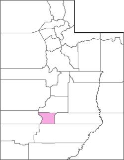 Piute County Map