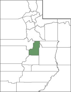 Sanpete County Map